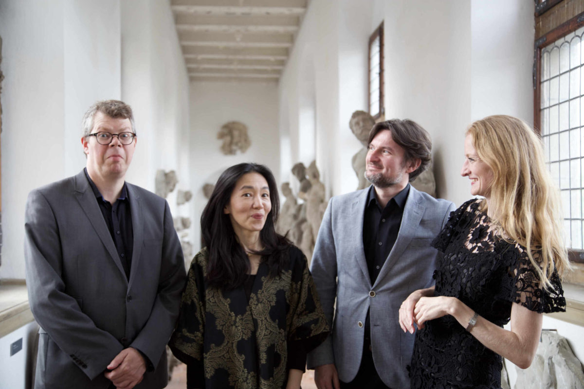 Elephant House Quartet. Allan Rasmussen, Aureliusz Goliński and Bolette Roed. Also included is the London-based Japanese gambist, Reiko Ichise.