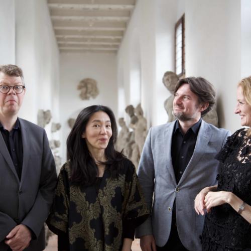 Elephant House Quartet. Allan Rasmussen, Aureliusz Goliński and Bolette Roed. Also included is the London-based Japanese gambist, Reiko Ichise.